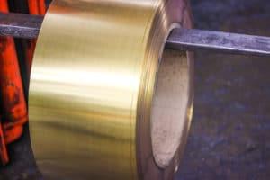brass roll on machine