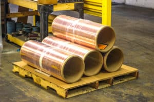copper rolls stacked