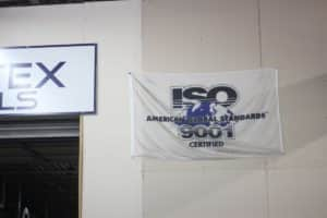 ISO American Global Standards 9001 Certified sign at Vortex Metals