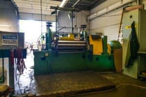 metal press machine at Vortex Metals