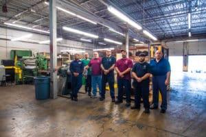 Vortex Metals employees in warehouse