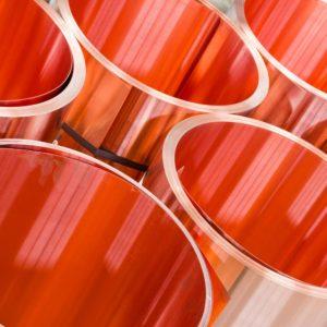 rolls of copper