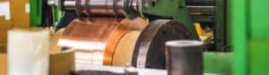 copper on rolling machine
